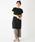 Discoat(ディスコート)の「USコットン裾スリットワンピース/ロングTシャツ/チュニック/ビッグTシャツ(ワンピース)」|ブラック