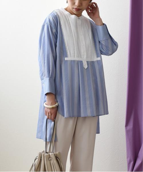 【Eimee Law】ストライプドレスシャツ