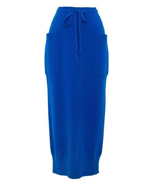 <Drawer(ドゥロワー)> 12Gウールカシミヤパイルニットスカート