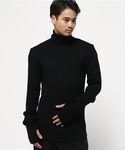 JOHN LAWRENCE SULLIVAN | TURTLE NECK LIB KNIT SWEATER(Knitwear)