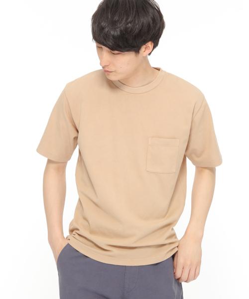 製品染めメッシュ半袖Tシャツ / LAKOLE