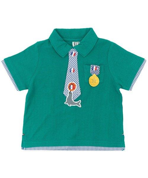 付け替えワッペン付きポロシャツ