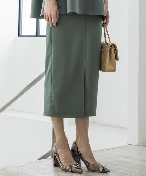 【STYLEBAR】フロントスリットペンシルスカート