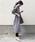AZUL ENCANTO(アズールエンカント)の「【洗濯機で洗える】【消臭効果】ガンクラブチェックブラウジングシャツワンピース(シャツワンピース)」|ブラウン