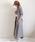 AZUL ENCANTO(アズールエンカント)の「【洗濯機で洗える】【消臭効果】ガンクラブチェックブラウジングシャツワンピース(シャツワンピース)」|カーキ