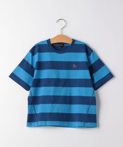 【キッズ】ワイドボーダーTシャツ