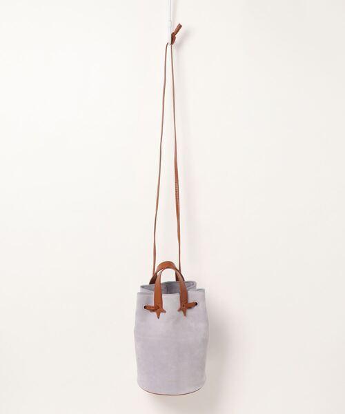【 Hashibami / ハシバミ 】ドローイングスウェード 巾着バッグ