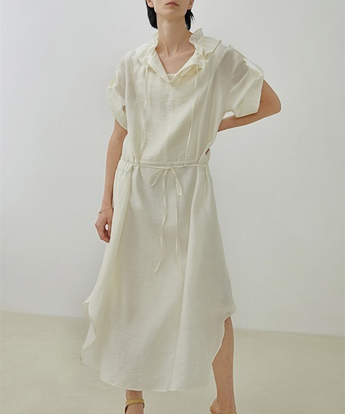 【UNSPOKEN】Waist ribbon dress UX20L632chw