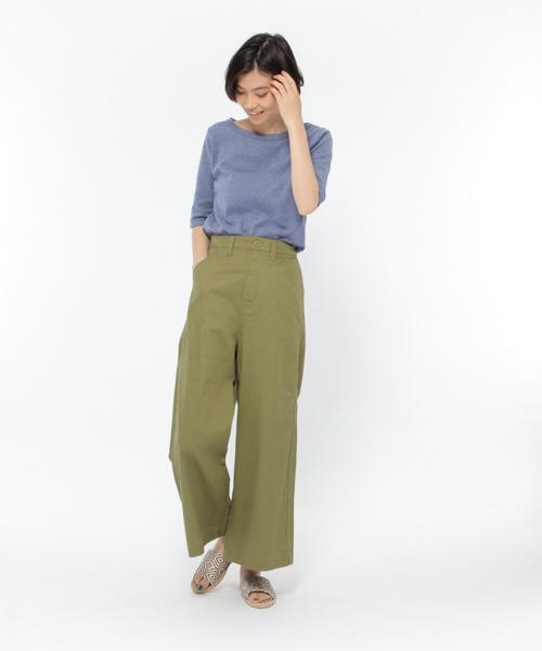 【吸水速乾】ストレッチボートネックTシャツ / LAKOLE
