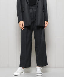 <H>FLANNEL WIDE PANTS GRAY/パンツ