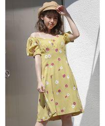 fa34b422daae5 ワンピース(イエロー 黄色系・ショート・ミニ丈)ファッション通販 ...