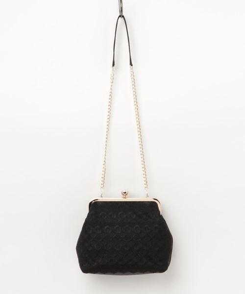 Dorry Doll(ドリードール)の「幾何学刺繍模様入りフォーマルクラッチバッグ(クラッチバッグ)」|ブラック