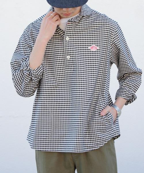 DANTON/ダントン オックスプルオーバーシャツプレイド OX PULLOVER SHIRT PLAID
