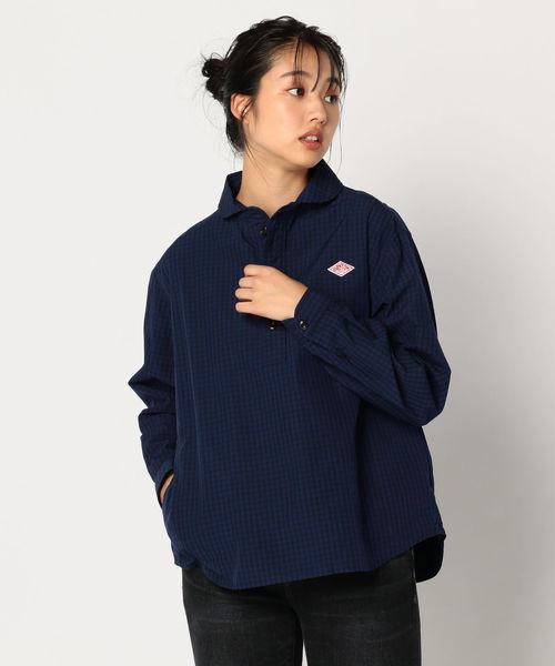 美品  【DANTON アンド/ダントン】丸えりGINGHAMシャツ #JD-3564 PGM(シャツ FREDY&GLOSTER/ブラウス) Danton(ダントン)のファッション通販, ヤマトムラ:6cd5eeb2 --- svarogday.com