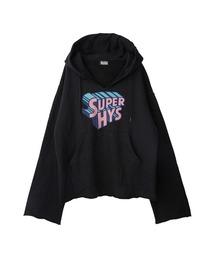 SUPER HYS パーカーブラック