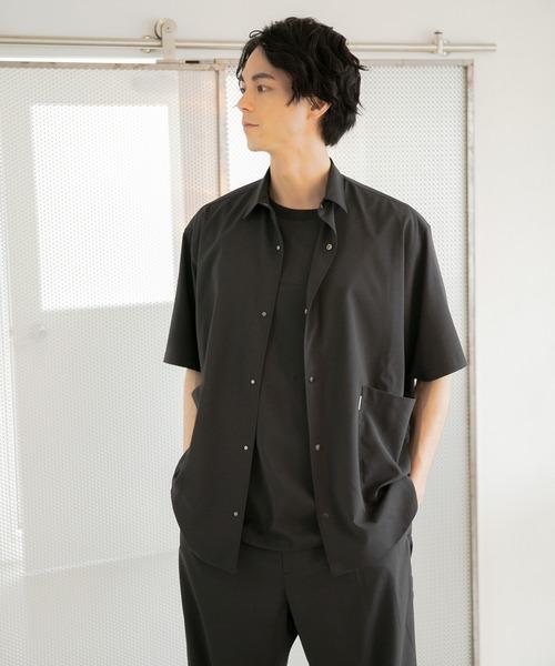 niko and...(ニコアンド)の「[ACTIVE SETTER]ハイストレッチ腰ポケットシャツ(シャツ/ブラウス)」 ブラック