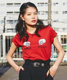 SNAKE & SKULL刺繍 Tシャツ