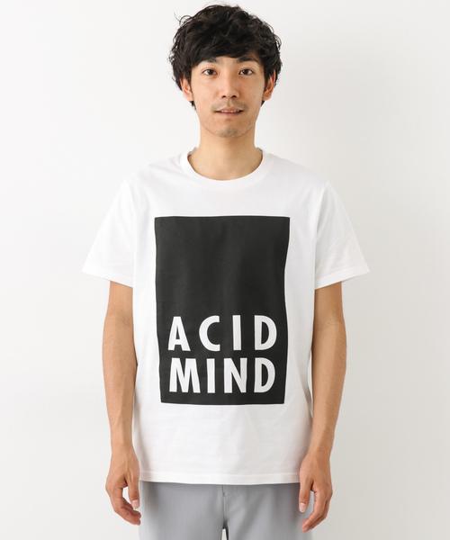 プリントシルケットTシャツ