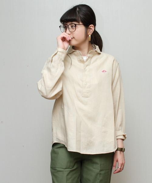 DANTON / ダントン リネンプルオーバーシャツ(ウィメンズ) #JD-3564KLS