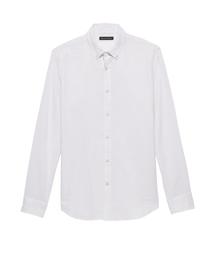 BANANA REPUBLIC(バナナリパブリック)のスリムフィット ダブルウィーブシャツ(シャツ/ブラウス)