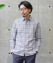 MEN'S MELROSE(メンズ メルローズ)のモールチェックレギュラーカラーシャツ(シャツ/ブラウス)