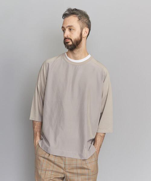 BY コンビファブリック ワイドフォルム 6SL Tシャツ