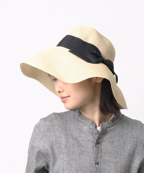 □ ST: ペーパーリボンハット Water-repel RIBBON HAT