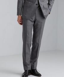 [ グアベロ ] GUABELLO フラノ風 無地 HX ノープリーツ スーツ パンツ