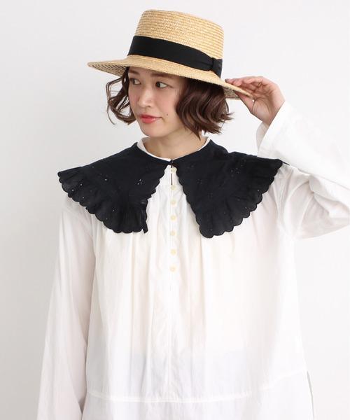 malle 60/-ローン カットワーク刺繍 付け衿