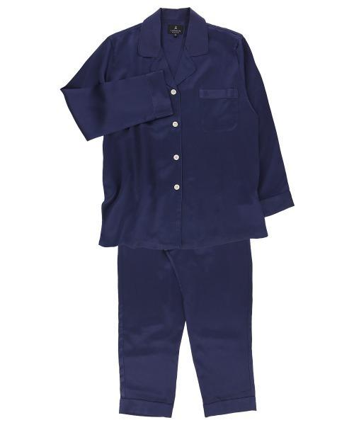 LANVIN COLLECTION レディース シルク100% 長袖 パジャマ Mサイズ 73044362