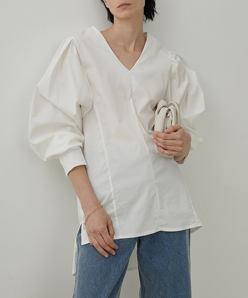 【UNSPOKEN】Volume sleeve shirt pullover UX20L644chw