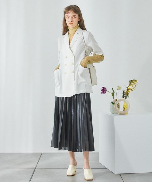 PUBLIC TOKYO(パブリックトウキョウ)の「カレンダーシアープリーツスカート(スカート)」|詳細画像