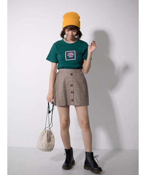 衿フリルTシャツ○