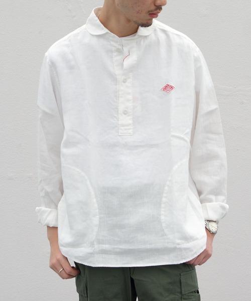 DANTON / ダントン リネンプルオーバーシャツ #JD-3568KLS