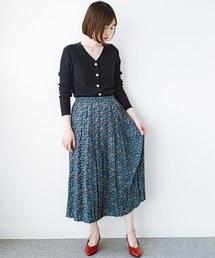 haco!(ハコ)のこれを着てお出かけしたくなる!はきやすくて気分が上がる花柄プリーツスカート(スカート)
