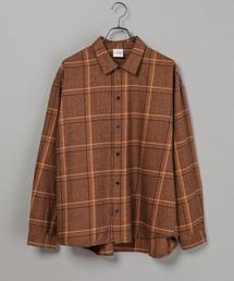 CIAOPANIC(チャオパニック)の綿テンセルビエラチェックシャツ/ネルシャツ/ビッグシルエット/WEB限定カラーあり(シャツ/ブラウス)