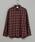CIAOPANIC(チャオパニック)の「綿テンセルビエラチェックシャツ/ネルシャツ/ビッグシルエット/WEB限定カラーあり(シャツ/ブラウス)」|レッド