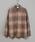 CIAOPANIC(チャオパニック)の「綿テンセルビエラチェックシャツ/ネルシャツ/ビッグシルエット/WEB限定カラーあり(シャツ/ブラウス)」|サンドベージュ