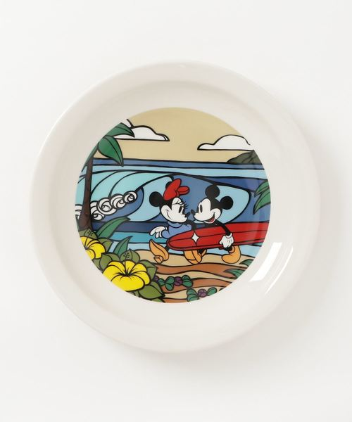 Disney(ディズニー)【SURF MICKEY COLLECTION / Heather Brown】PLATE(L) / COME SURF WITH ME
