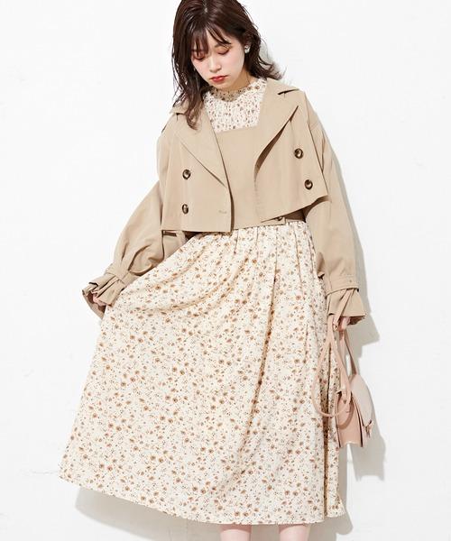 natural couture(ナチュラルクチュール)の「シャーリング使いおしゃれワンピース(ワンピース)」|その他1