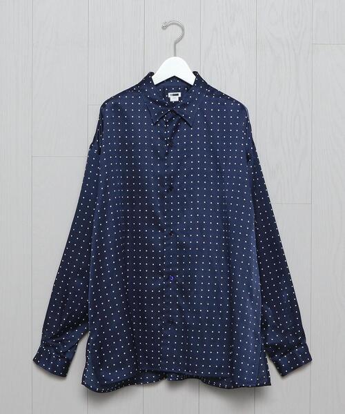 <H>SILK COTTON SQUARE BOXY REGULAR SHIRT/シャツ