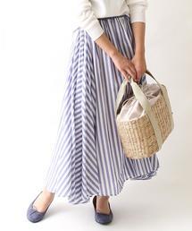 【Market】【昨年大人気・新色追加】ストライプマキシスカート