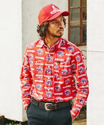 SUPER STINGER総柄 長袖ワークシャツ