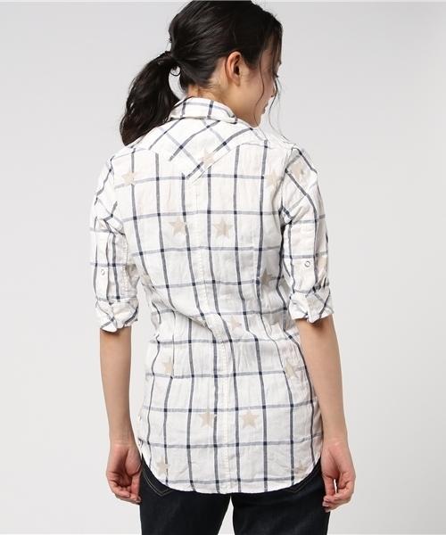 FranCisT_MOR.K.S./フランシスト モークス/star×check 1/2 sleeve linen shirt☆
