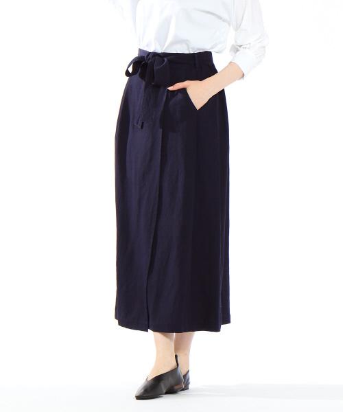 collex(コレックス)の「ラップスカート(スカート)」|ネイビー
