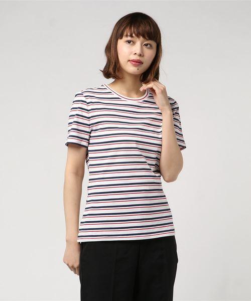 Red Fleece コットンジャージー ストライプTシャツ