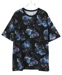 STUDIOUS(ステュディオス)の【STUDIOUS】ダークフラワービッグTシャツ(Tシャツ/カットソー)