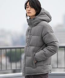 AIRCONPADウールライクフーデッドジャケット