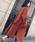 Doula Doula(ドゥーラドゥーラ)の「サイドスリット オーバーサイズ チェスターコート(チェスターコート)」 ブラウン