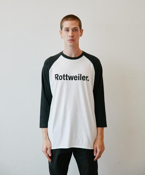 ROTTWEILER(ロットワイラー)の「R・W 3/4 Tee(Tシャツ/カットソー)」|ブラック